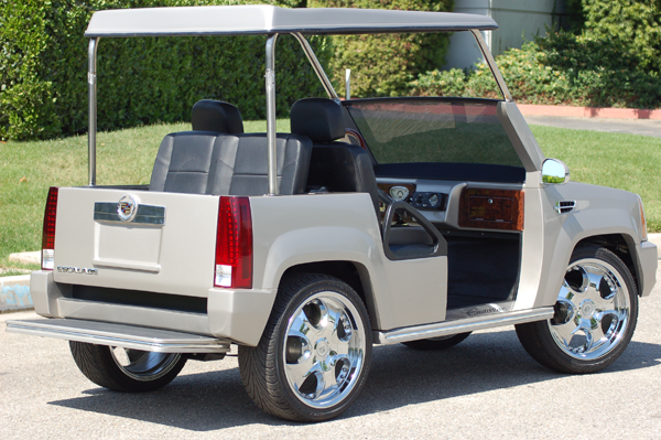 legal white specified not golf street cart acg fast lsv car cadillac passenger escalade